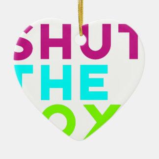 Shut The Box Logo Ceramic Heart Ornament