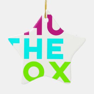 Shut The Box Logo Ceramic Ornament