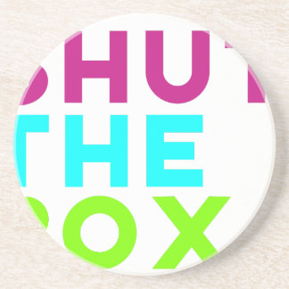 Shut The Box Logo Coaster