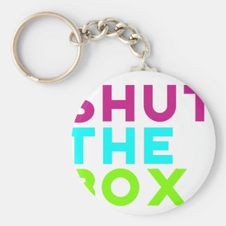 Shut The Box Logo Keychain
