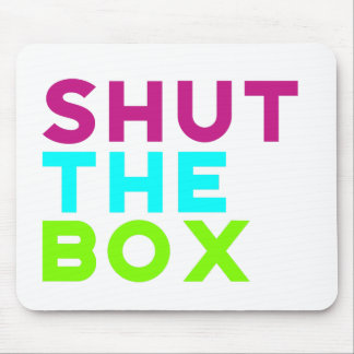 Shut The Box Logo Mouse Pad