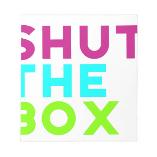 Shut The Box Logo Notepad