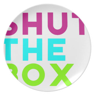 Shut The Box Logo Plate