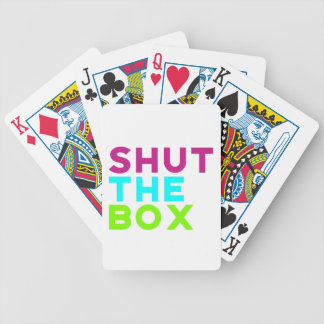 Shut The Box Logo Playing Cards