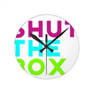 Shut The Box Logo Round Clock