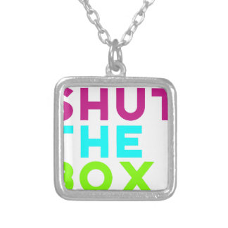 Shut The Box Logo Silver Plated Necklace