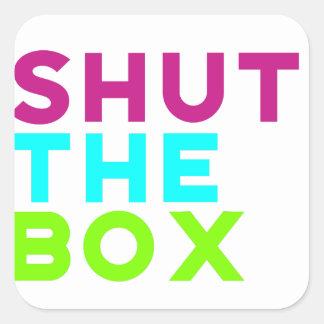 Shut The Box Logo Square Sticker