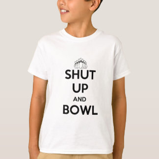 Shut Up and Bowl (Keep Calm Style) T-Shirt