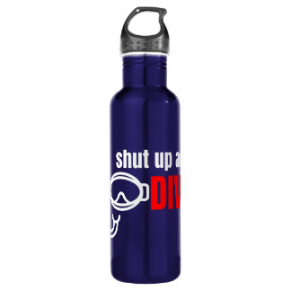 Shut up and dive 710 ml water bottle