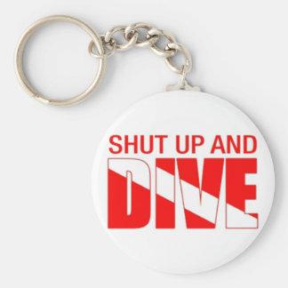 Shut Up and Dive! Basic Round Button Keychain