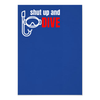 Shut up and dive card