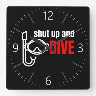 Shut up and dive clock
