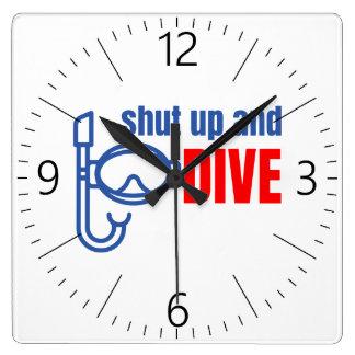 Shut up and dive wall clocks