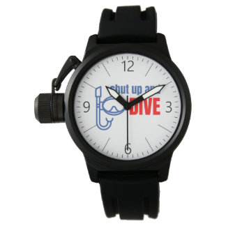 Shut up and dive wristwatches