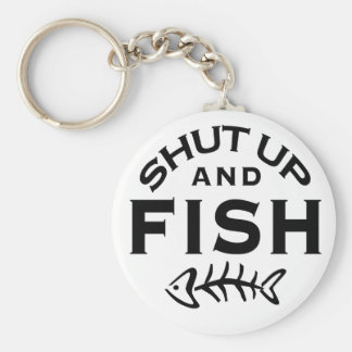 Shut Up And Fish Basic Round Button Keychain