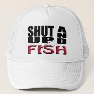 SHUT UP AND FISH TRUCKER HAT