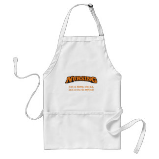 Shut up and let me do my job! standard apron