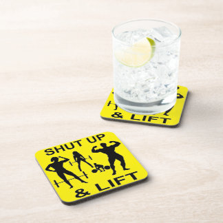 Shut Up And Lift Bodybuilding Strength Training Coasters