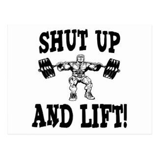 Shut Up And Lift Weightlifting Postcard