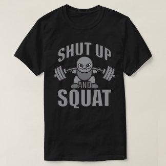 Shut Up And Squat - Cute Kawaii Weightlifter T-Shirt