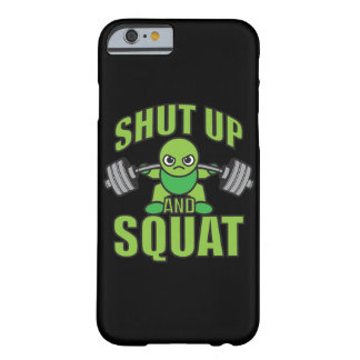 Shut Up And Squat Kawaii Anime Powerlifter Cartoon Barely There iPhone 6 Case