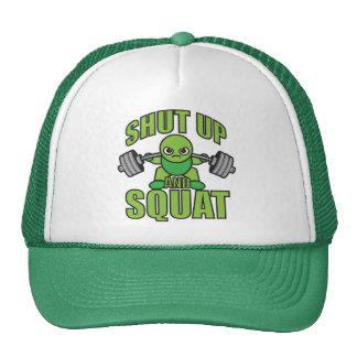 Shut Up And Squat Kawaii Anime Powerlifter Cartoon Trucker Hat