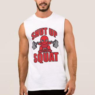 Shut Up And Squat - Kawaii Leg Day Sleeveless Shirt