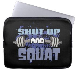 Shut Up And Squat - Leg Day - Workout Motivational Laptop Sleeve