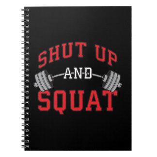Shut Up And Squat - Leg Day Workout Motivational Notebooks