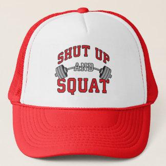 Shut Up And Squat - Leg Day Workout Motivational Trucker Hat