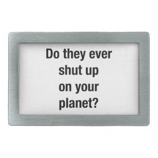 SHUT UP! BELT BUCKLE