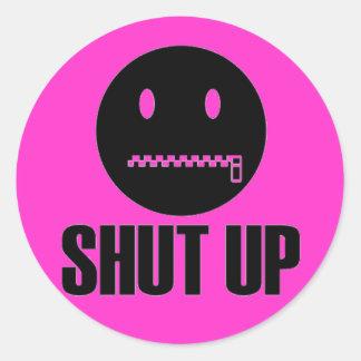Shut Up, Zip It Stickers