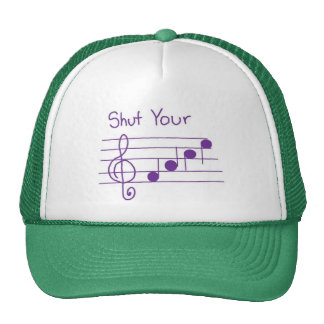 shut your face trucker hat