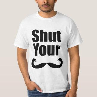 Shut Your Stache Light Shirt