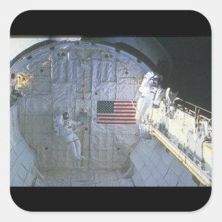 Shuttle Bay_Space Square Sticker