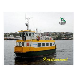 Shuttle boat in Kristiansund, Norway Postcard
