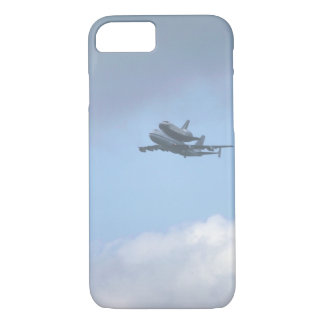 """Shuttle """"Discovery"""" near_Military Aircraft iPhone 7 Case"""