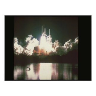 Shuttle launch. (launch_Space Poster