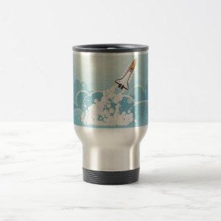 Shuttle night launch coffee mug
