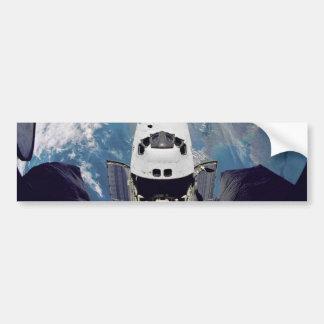 Shuttle Over Earth Bumper Stickers