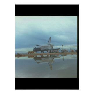 Shuttle reflection_Space Poster