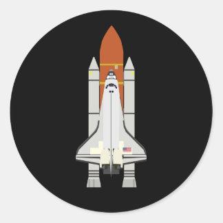 Shuttle (Simple History) Round Sticker