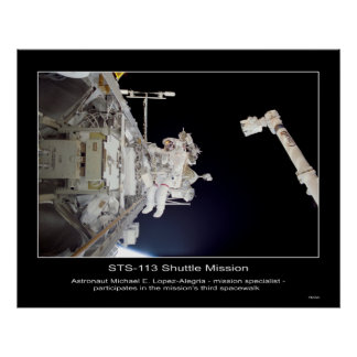 Shuttle-sts113-307-009 Poster