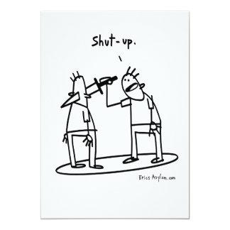 shutup card