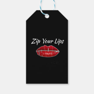 Shutup-Zip Your Lips Gift Tags