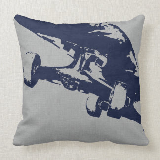 Shuvit Shove-It Skateboard Pillow Silver Navy