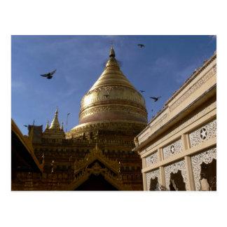 Shwe Zigon Pagoda Postcard
