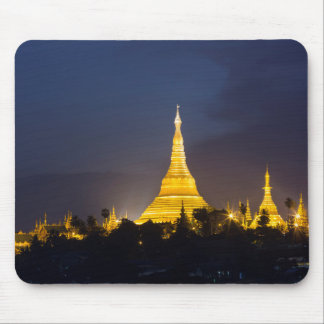 Shwedagon Pagoda At Night Mouse Pad