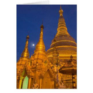 Shwedagon Pagoda at night, Myanmar Card