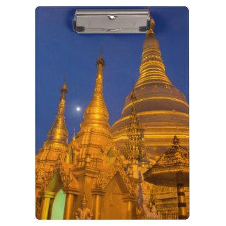 Shwedagon Pagoda at night, Myanmar Clipboard